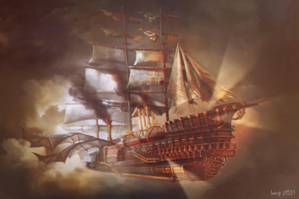 steampunk ship